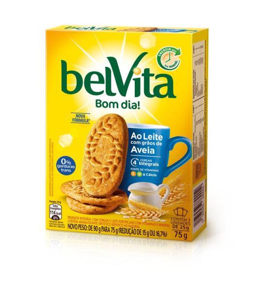 Biscoito BELVITA ao Leite com Aveia (3 unidades) 75g - Imagem em destaque