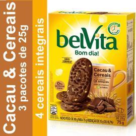 Biscoito BELVITA Cacau e Cereais (3 Unidades) 75g