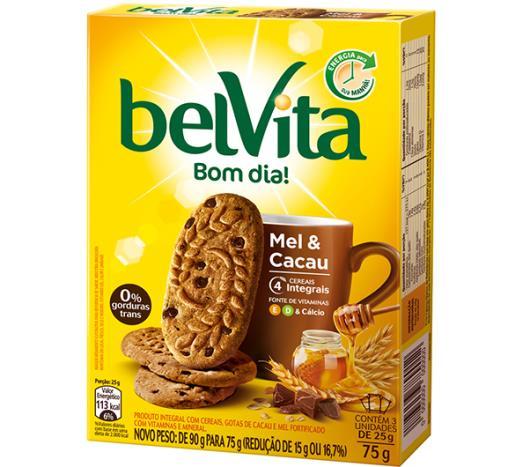 Biscoito BELVITA Mel e Cacau (3 Unidades) 75g - Imagem em destaque