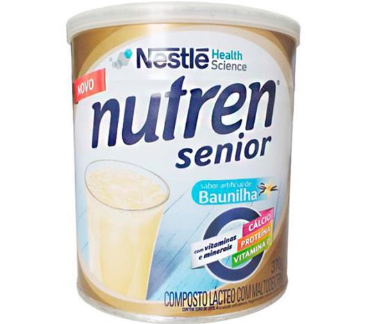Composto lácteo baunilha Nutren senior Nestle lata 370g - Imagem em destaque