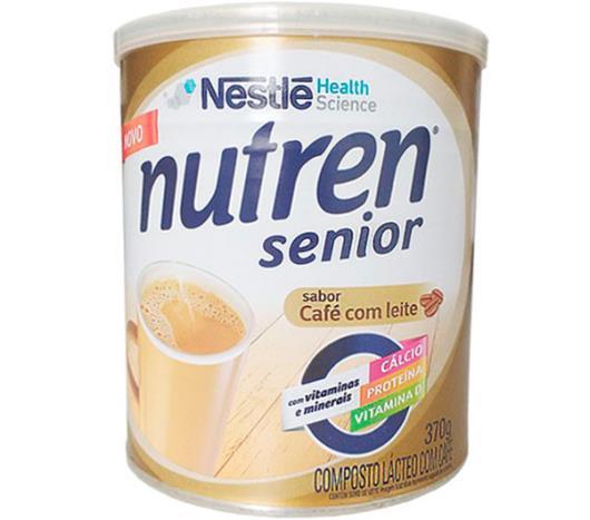 Composto lácteo café com leite Nutren senior Nestle lata 370g - Imagem em destaque