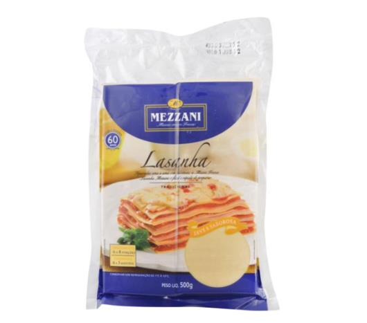 Massa para lasanha Mezzani 500g - Imagem em destaque