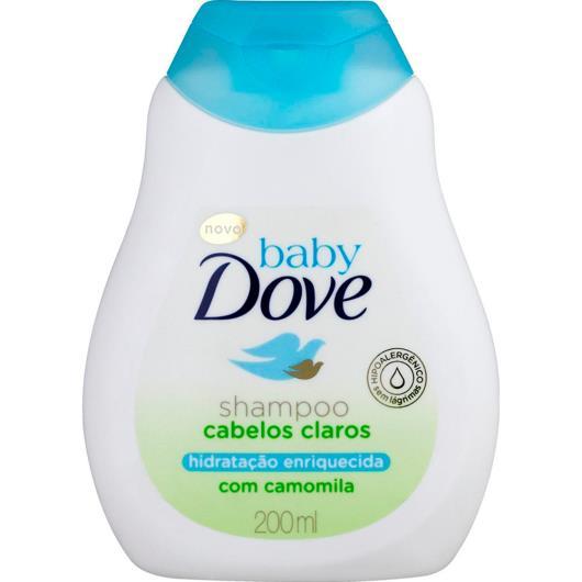 Shampoo Dove Baby Hidratação Enriquecida Cabelos Claros 200ml - Imagem em destaque