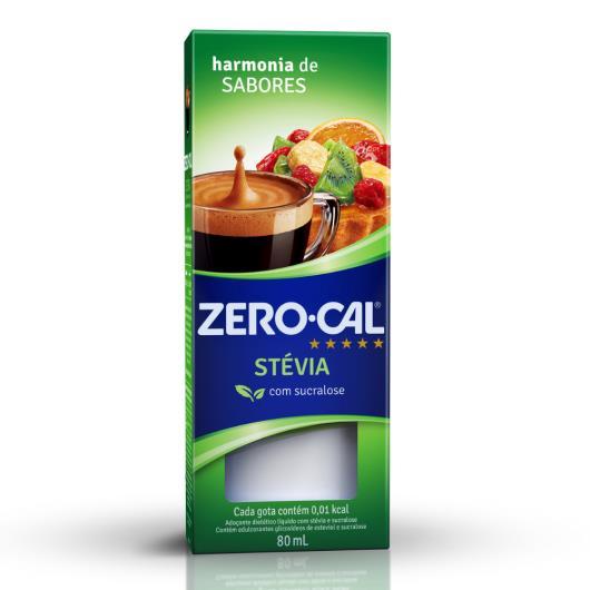 Zero-Cal Stévia Adoçante Líquido 80ml - Imagem em destaque