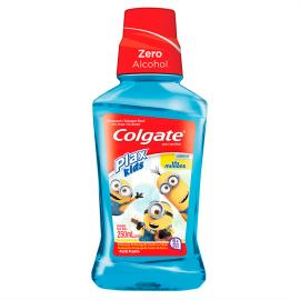 Enxaguante Bucal Colgate Plax Kids Minions com Flúor Sem Álcool Tutti-Frutti 250ml