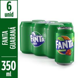 Refrigerante Fanta Guaraná 6 unids de 350ml cada