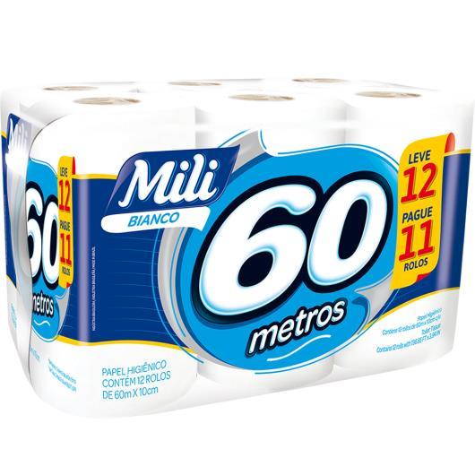 Papel Higiênico Bianco Mili 60m Leve 12 Pague 11 rolos - Imagem em destaque