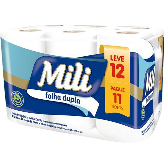 Papel Higiênico Folha Dupla Mili Leve 12 Pague 11 rolos - Imagem em destaque