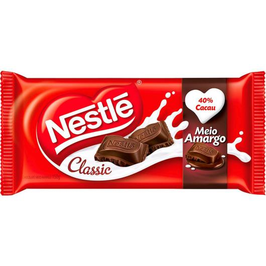 Chocolate Nestlé Classic Meio Amargo 100g - Imagem em destaque