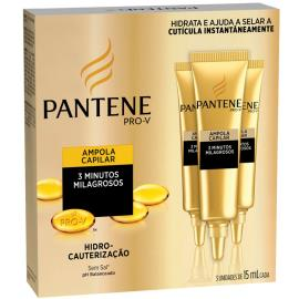 Ampola Pantene Hidro-cauterização c/ 3 unids. 45ml