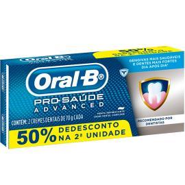 Creme Dental Oral-B Pró-Saúde Advanced 50% Desconto na Segunda unidade 140g