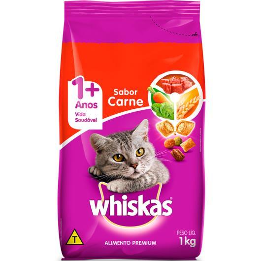 Ração para gatos Whiskas sabor carne 1kg - Imagem em destaque