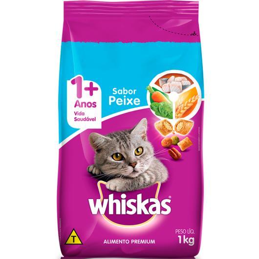 Ração para gatos Whiskas sabor peixe 1kg - Imagem em destaque