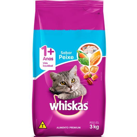 Ração para gatos Whiskas sabor peixe 3kg - Imagem em destaque