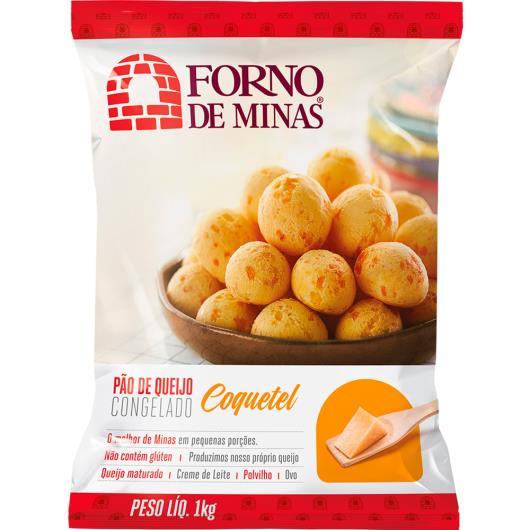 Pão de Queijo congelado coquetel Forno de Minas 1kg - Imagem em destaque