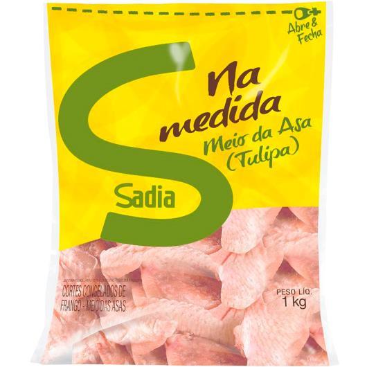 Meio da asa de frango congelado Sadia 1kg - Imagem em destaque