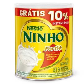 Leite em Pó Grátis 10% integral instantaneo Ninho Nestle 400g