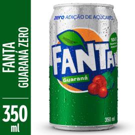 Refrigerante Fanta Guaraná Zero lata 350ml