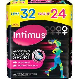 Absorvente Intimus Sport Ultrafino com abas Leve 32 Pague 24
