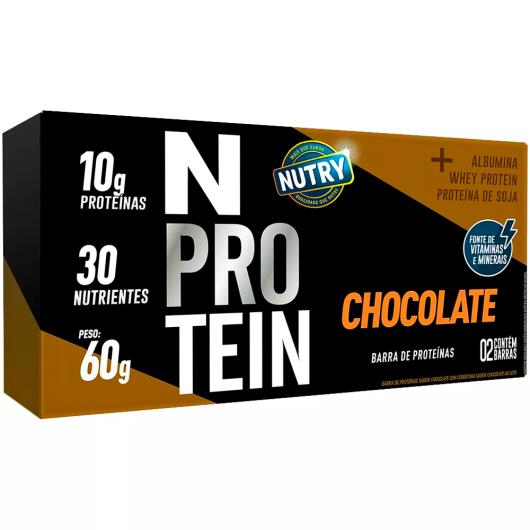 Barra Proteína chocolate N Nutry 60g - Imagem em destaque
