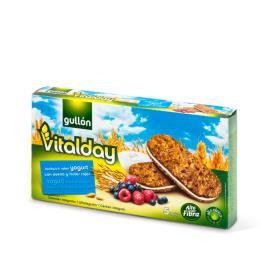 Biscoito Cereais integrais Recheio de iogurte e frutas vermelhas Vitalday Gullon 220g