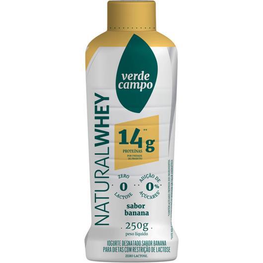 Iogurte natural banana Whey Verde Campo 250g - Imagem em destaque