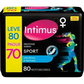 Protetor Diário Intimus Day Sport Ultrafino Leve 80 Pague 70