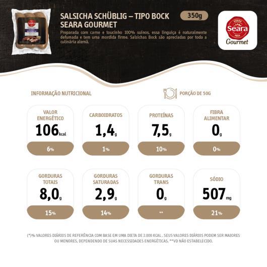 Salsicha gourmet schublig Seara 250g - Imagem em destaque