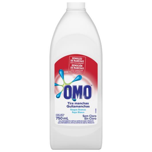 Tira manchas líquido roupas brancas Omo 750ml - Imagem em destaque