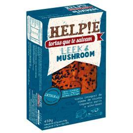 Torta congelado leek mushroom integral Helpie 450g