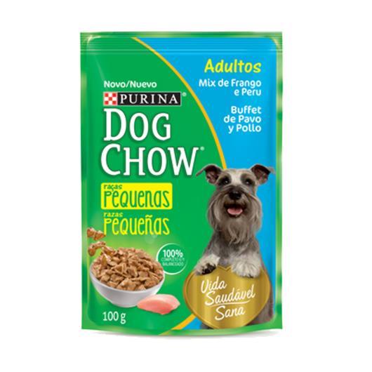 Alimento Cães adulto frango peru Dog Chow sache 100g - Imagem em destaque