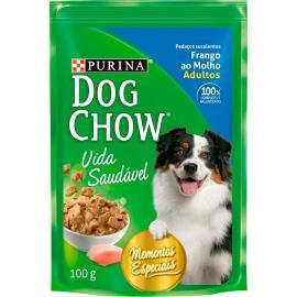 Alimento Cães adulto frango molho Dog Chow sache 100g