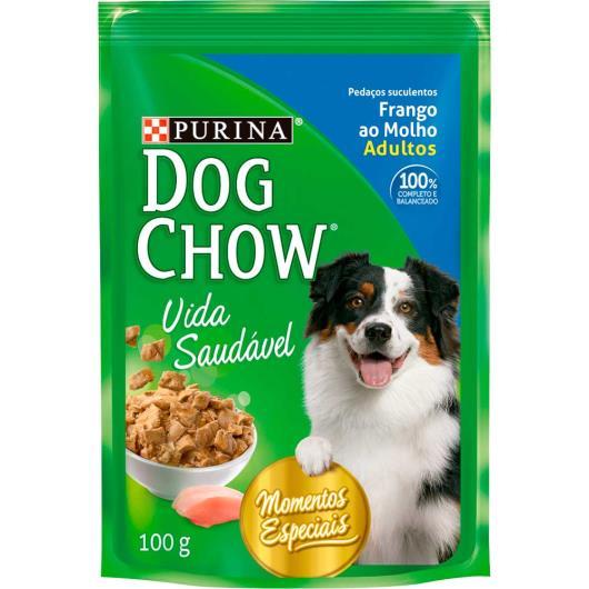 Alimento Cães adulto frango molho Dog Chow sache 100g - Imagem em destaque