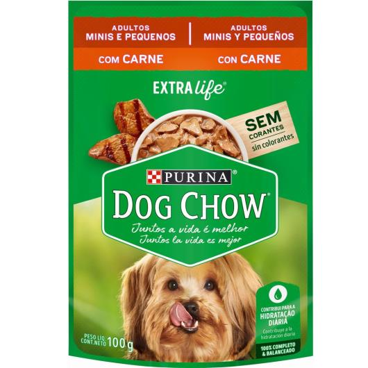 Alimento Cães adulto carne molho Dog Chow sache 100g - Imagem em destaque