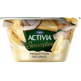 Iogurte Activia Sensações abacaxi e coco 120g