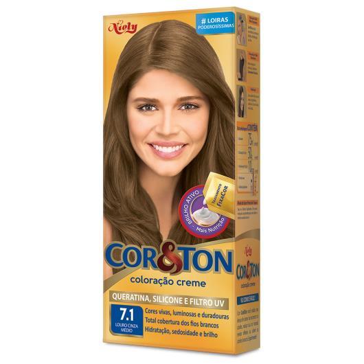 Coloração creme 7.1 louro cinza médio Cor&Ton unidade - Imagem em destaque