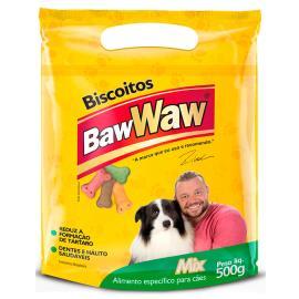 Alimento Cães biscoito Baw Waw 500g