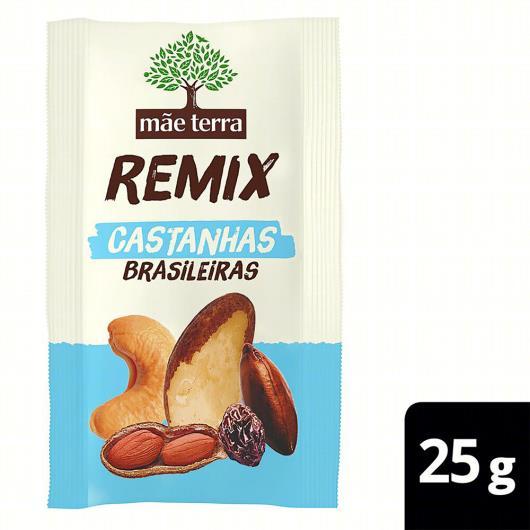 Mix de Castanha Brasileira Mãe Terra Remix Pacote 25g - Imagem em destaque