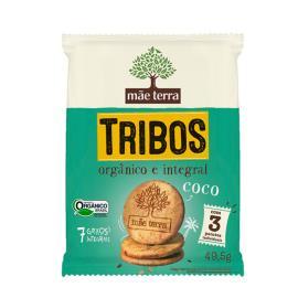 BISCOITO MÃE TERRA TRIBOS ORGÂNICO COCO 49,5g