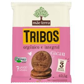 BISCOITO MÃE TERRA TRIBOS ORGÂNICO CACAU 49.5g