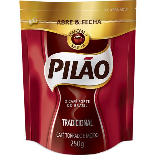 Café Pilão Tradicional BAG Abre e Fecha 250g - Imagem em destaque