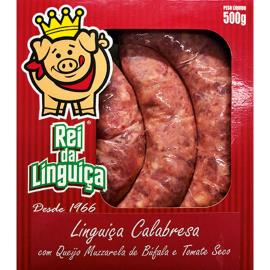 Linguiça Rei Linguiça Calabresa c/ Queijo muzzarela de Búfala 500g