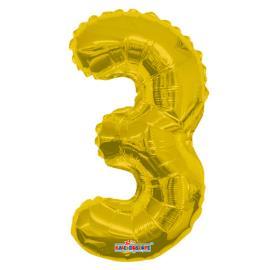 Balao Minishape n.3 dourado Regina 1un