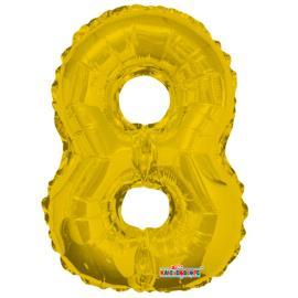Balao Minishape n.8 dourado Regina 1un