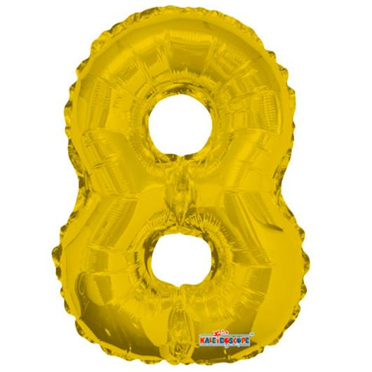 Balao Minishape n.8 dourado Regina 1un - Imagem em destaque
