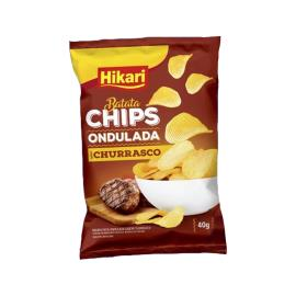 Batata Hikari Chips Ondulada Churrasco 40g