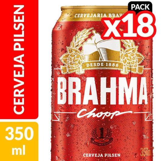 Cerveja Brahma Chopp, Pilsen, 350ml, Lata, Pack C/18 - Imagem em destaque