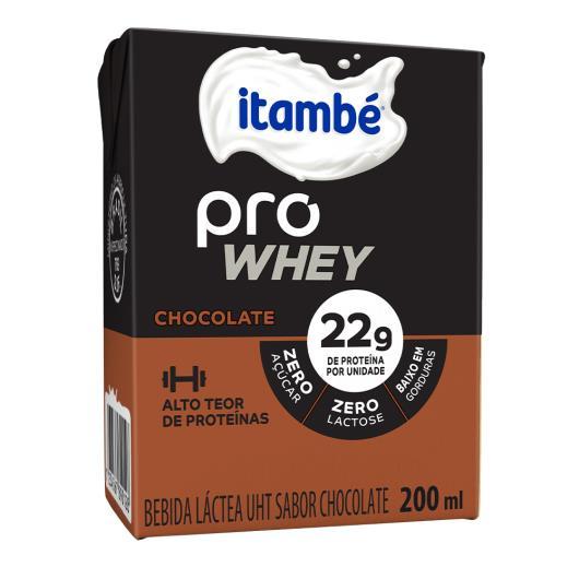 Bebida Láctea Itambé Pro Whey Chocolate Zero Lactose 200ML - Imagem em destaque