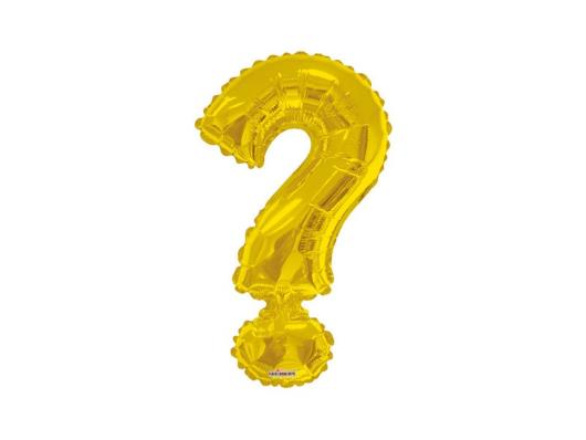 Balão símbolo interrogação dourado Minishape Regina unidade - Imagem em destaque