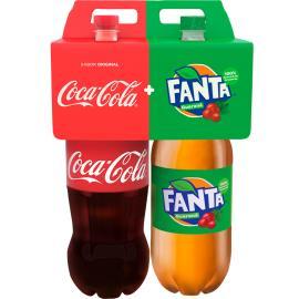 Refrigerante Coca Cola 2L + Fanta Guaraná 2L